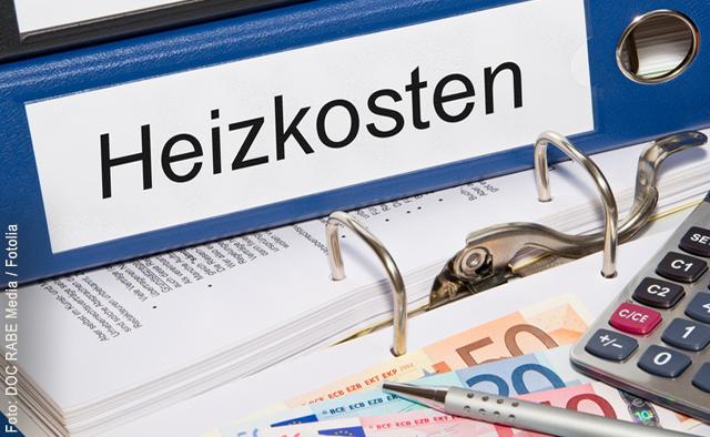"""Heizkosten sparen, ein Thema auf Hausmeister-Infos.de - das Bild zeigt einen blauen Ordner mit dem Rückenschild """"Heizkosten""""."""
