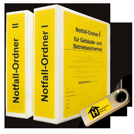 Nofall-Ordner für Gebäude- und Betriebssicherheit